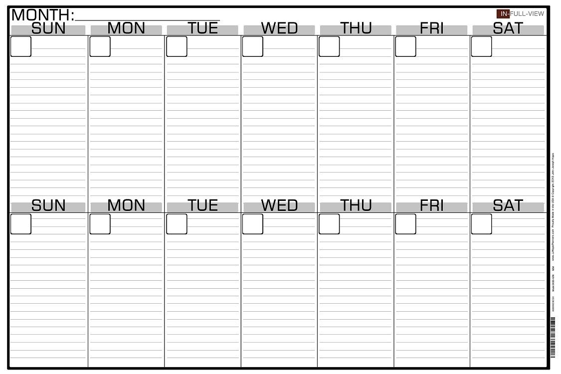 2 Week Calendar Template | Weekly Calendars 2018