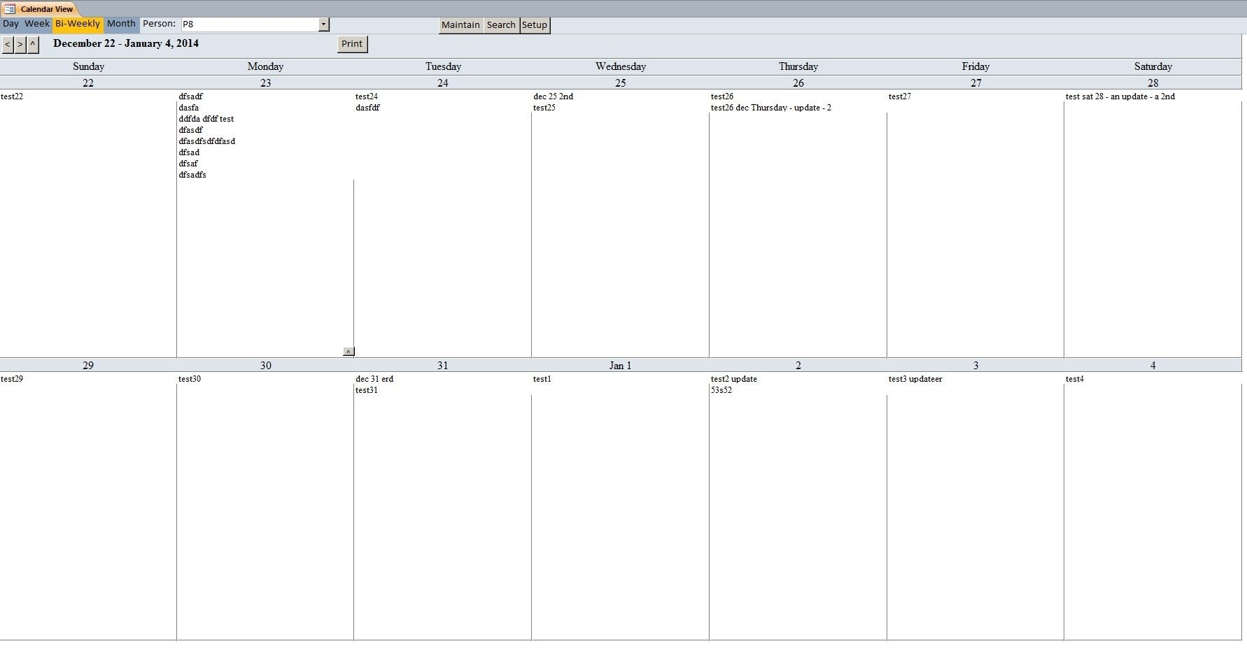 2 Weeks Calendar Template Printable Bi Weekly Bbiweek 2 Release For