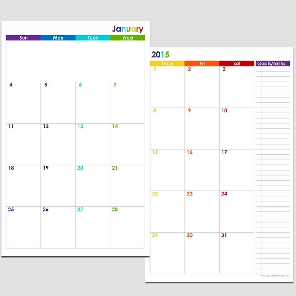 Free Printable Calendar 8 1/2 X 11   Ten Free Printable ...