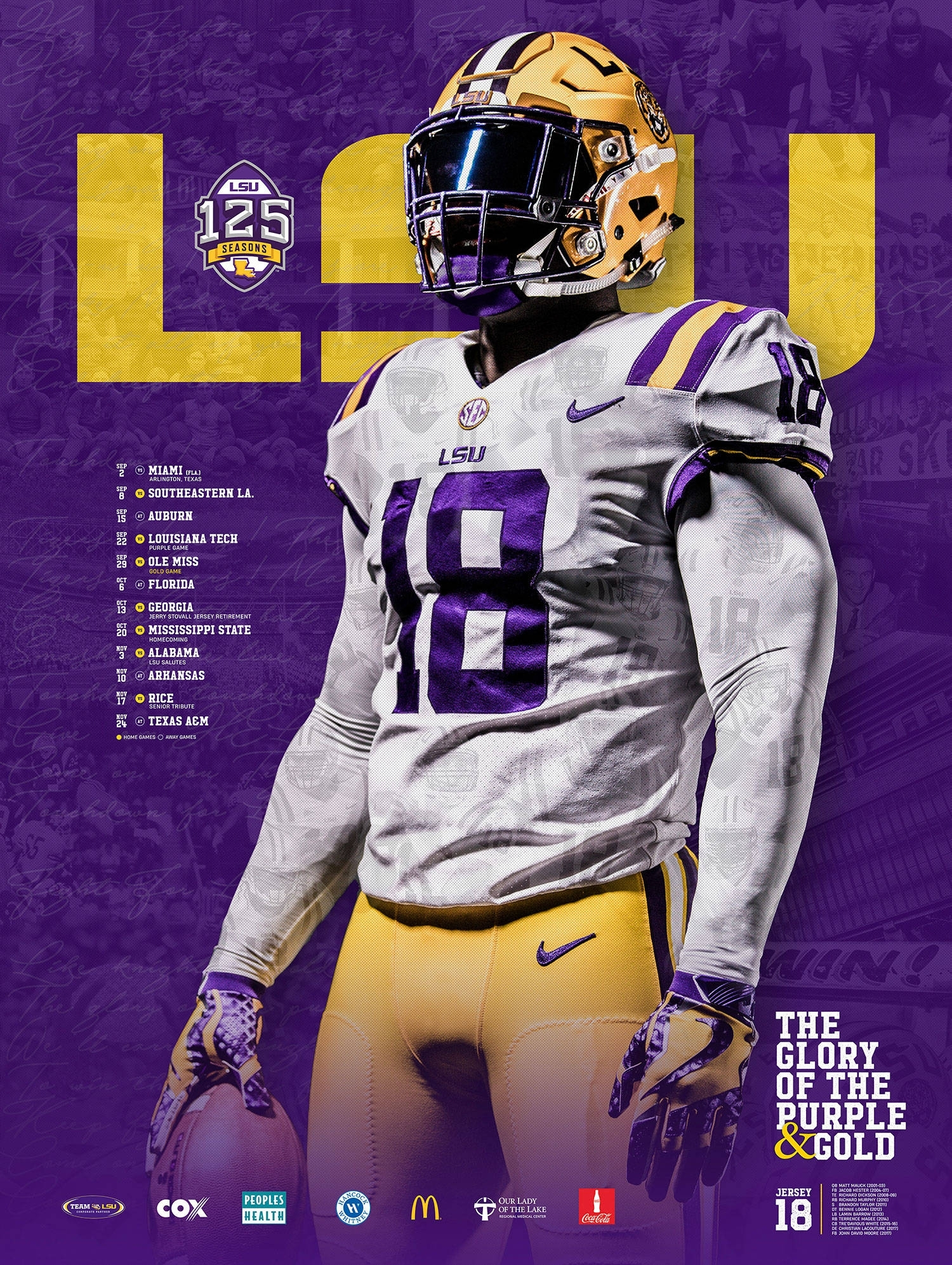 2018-19 Lsu Athletics Posters - Lsusports - The Official Web