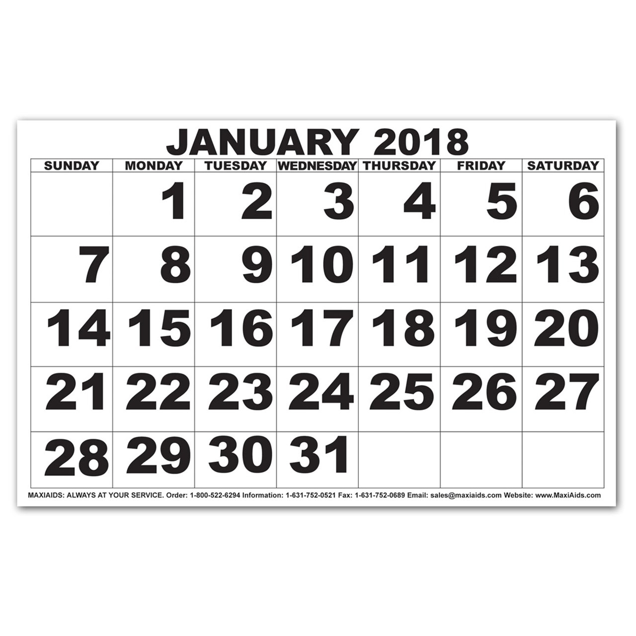 2018 Calendar Large Free Printable Calendars And Planners 2017 2018