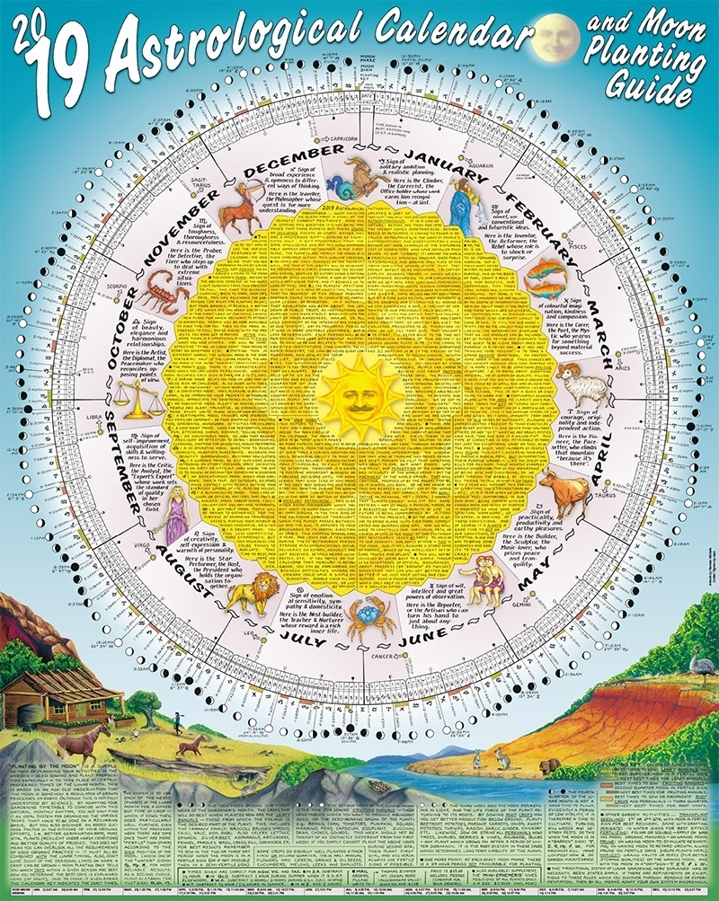 2019 Astrological Calendar And Moon Planting Guide