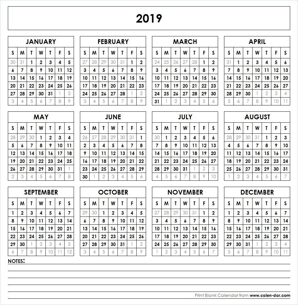 2019 Printable Calendar | Yearly Calendar | Pinterest | Calendar