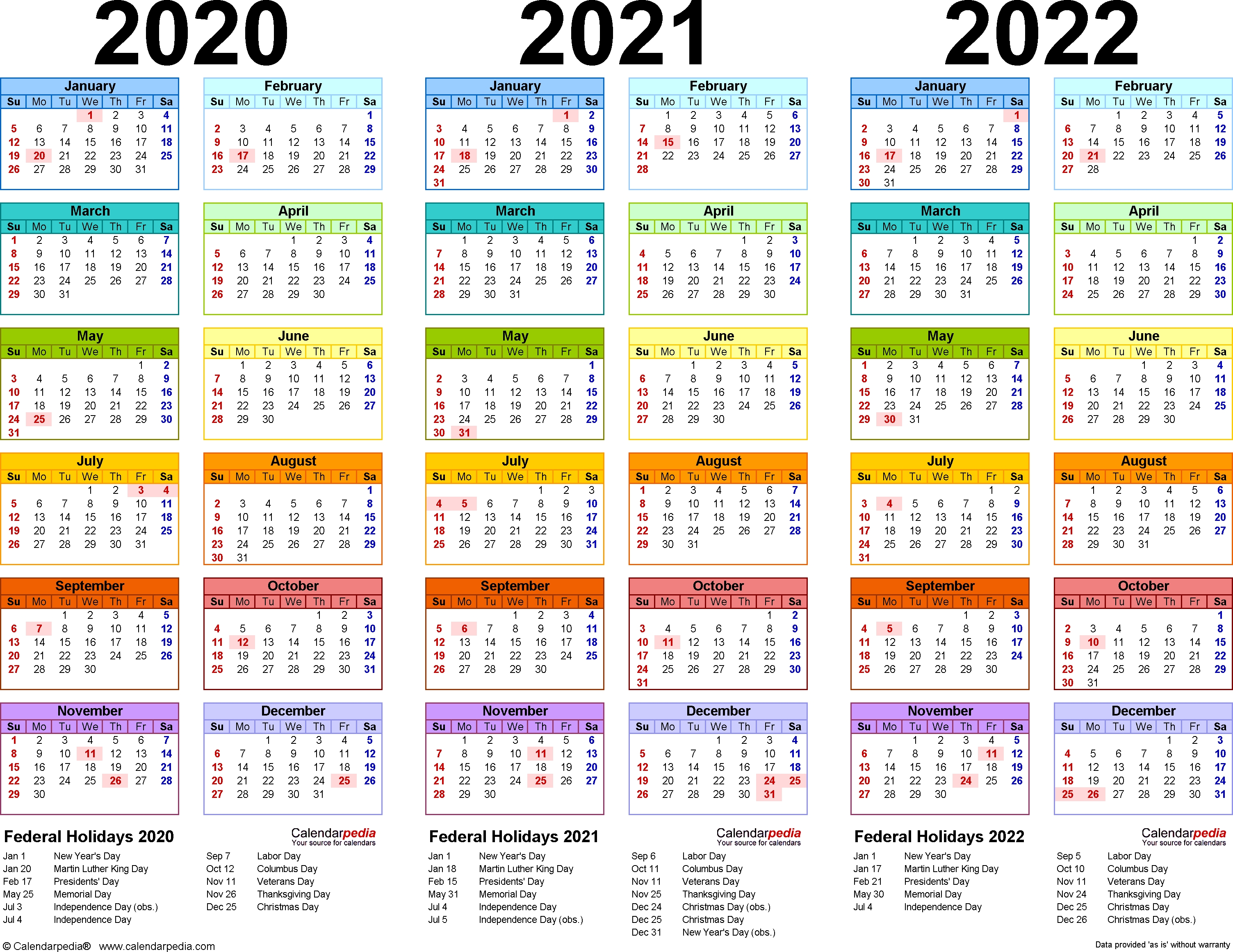 Free Printable Calendars 3 Year | Ten Free Printable ...