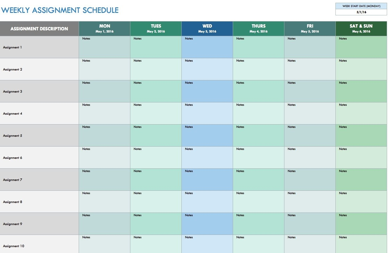 3 Week Schedule Template - Sasolo.annafora.co