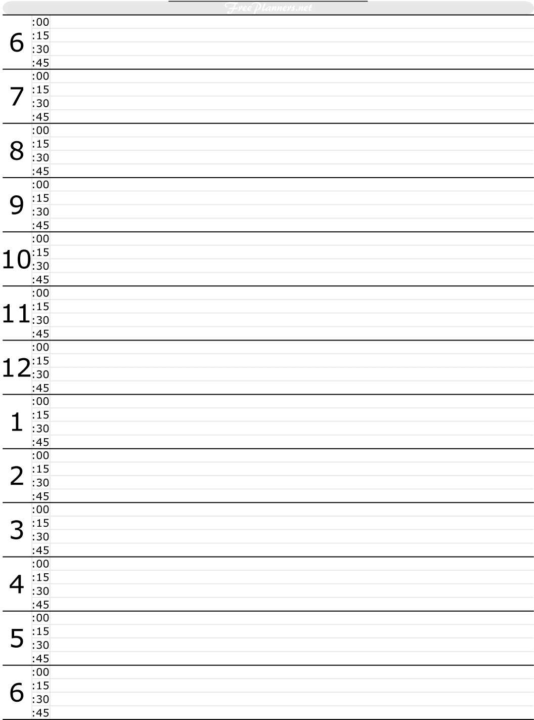 5+ Free Printable Hourly Planner Templates | Public Holidays 2018