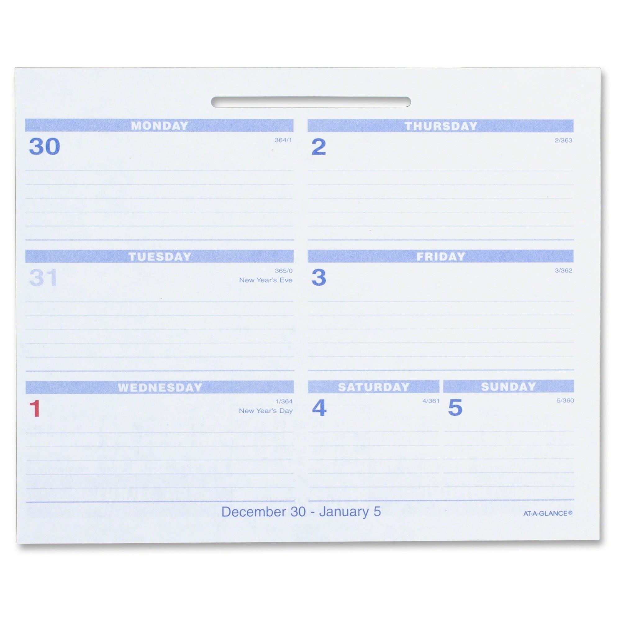 At-A-Glance Flip-A-Week Desk Calendar Refill - Ld Products