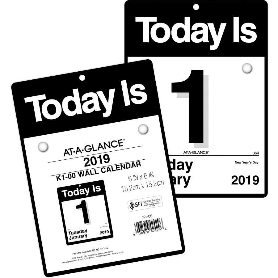 At-A-Glance Today Is Wall Calendar - Icc Business Products - Office