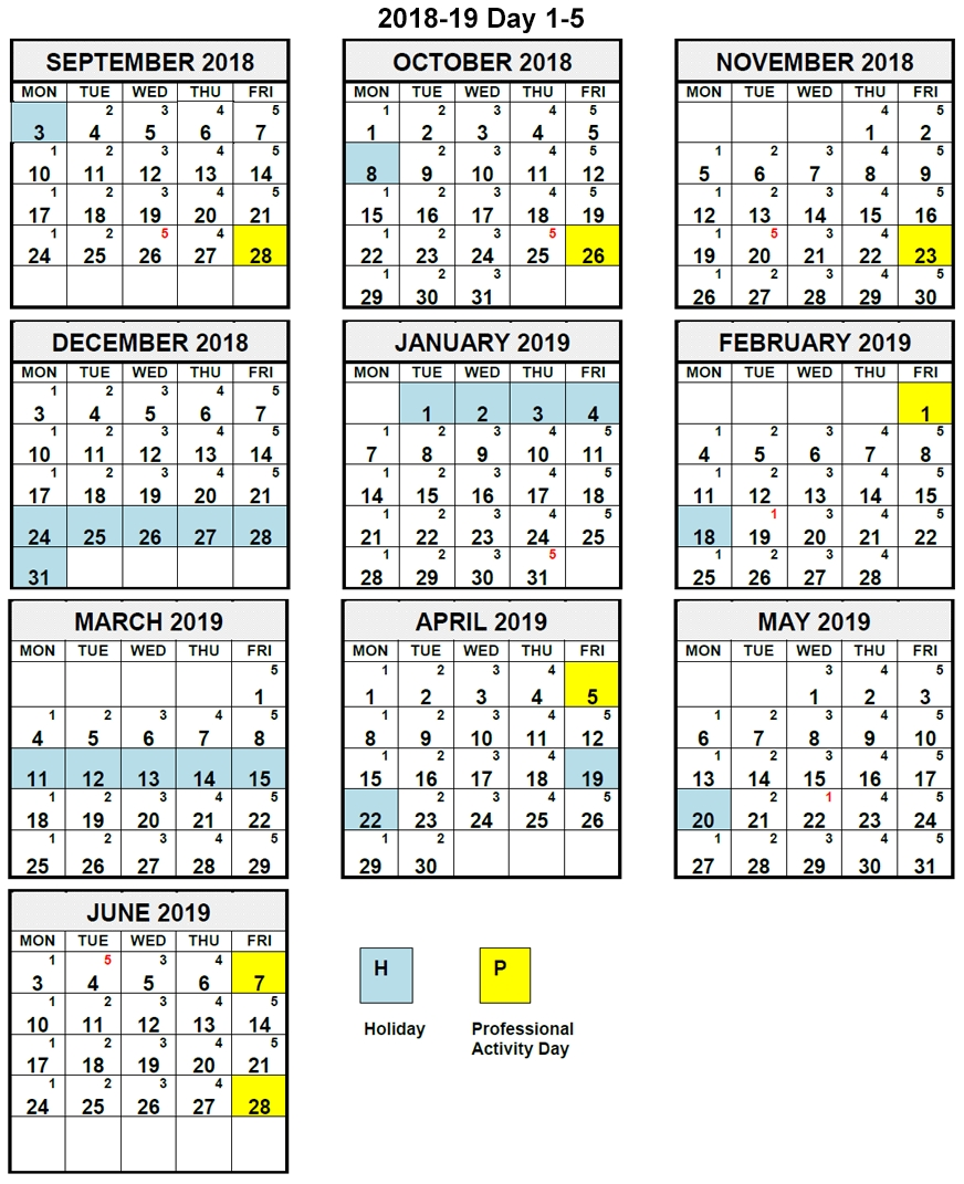Calendars - Lambton Kent District School Board