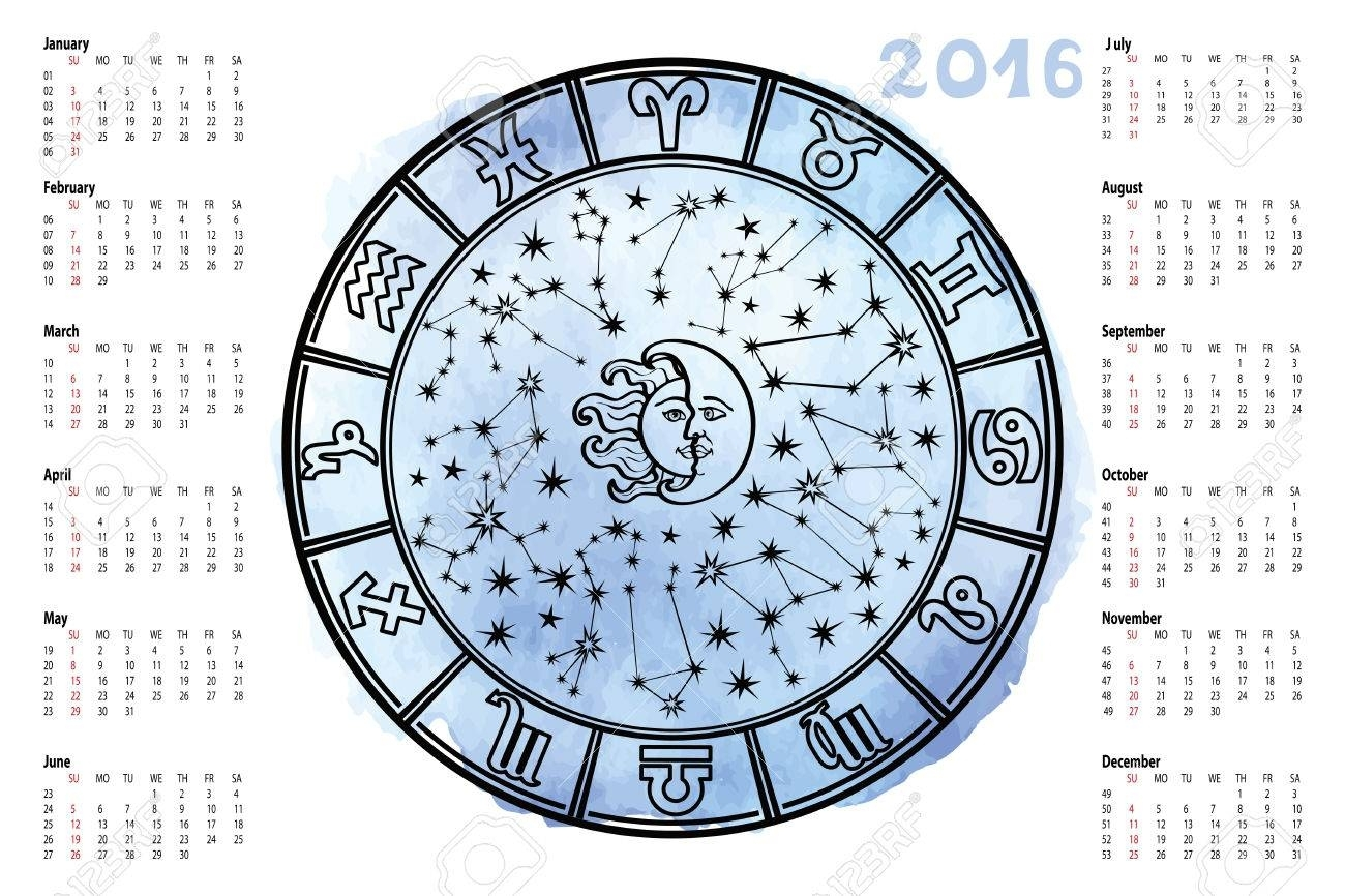 Circle With Zodiac Sign.horoscope Circle With Zodiac Signs