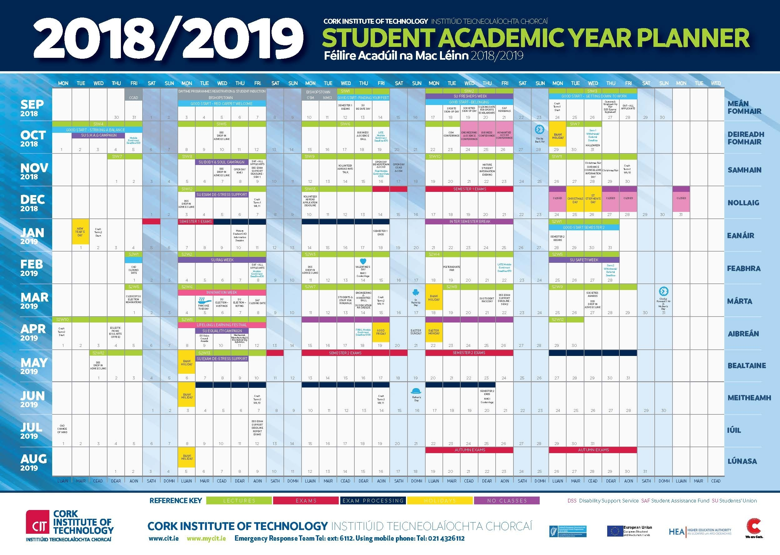 Cit - Cork Institute Of Technology - Semester Dates And Calendar