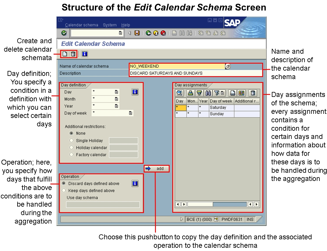 Creating And Editing A Calendar Schema
