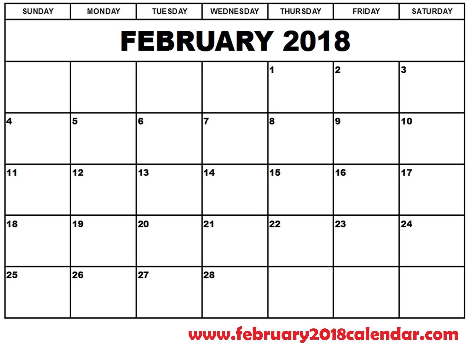 February 2019 Calendar | Site Provides Calendar Template Of February
