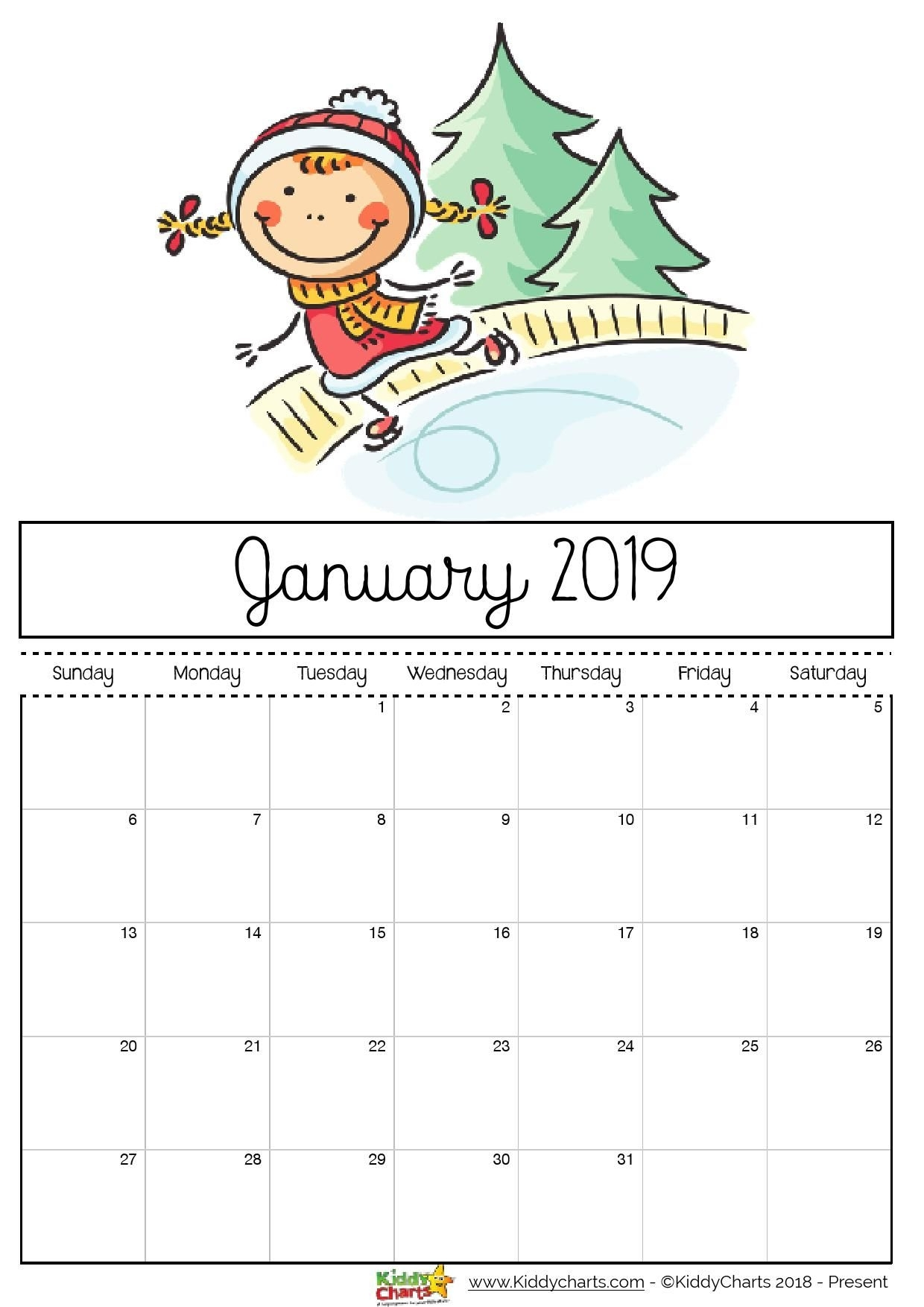 Free Printable 2019 Calendar - Print Yours Here | Planner | Calendar