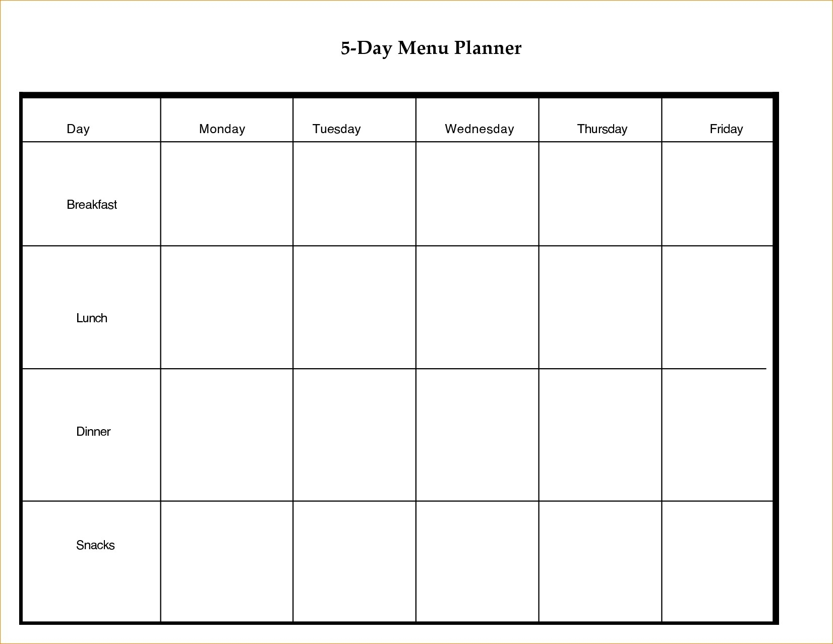 Free Printable Calendar 5 Day Week   Ten Free Printable ...