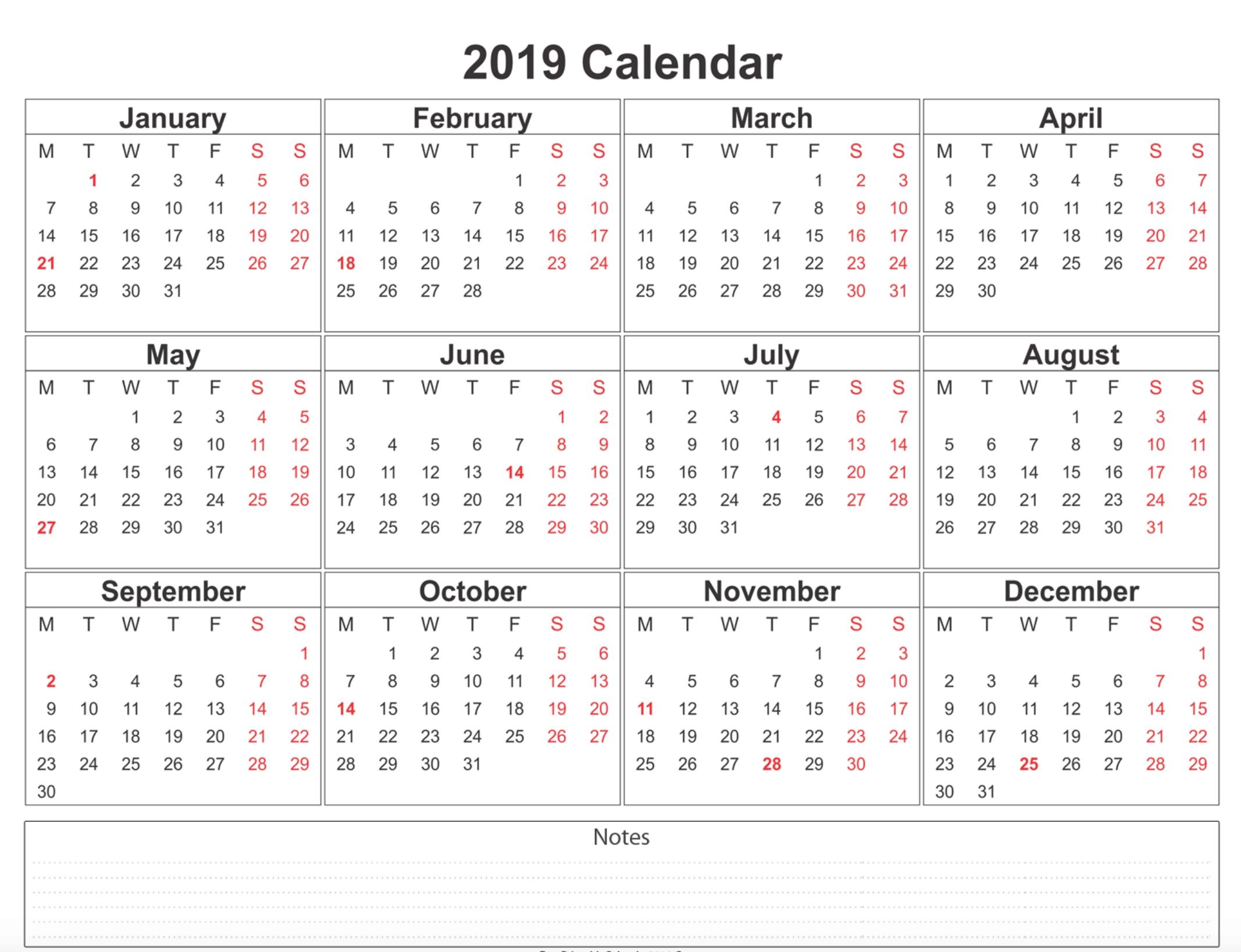 Free Printable Calendar You Can Type In | Ten Free ...