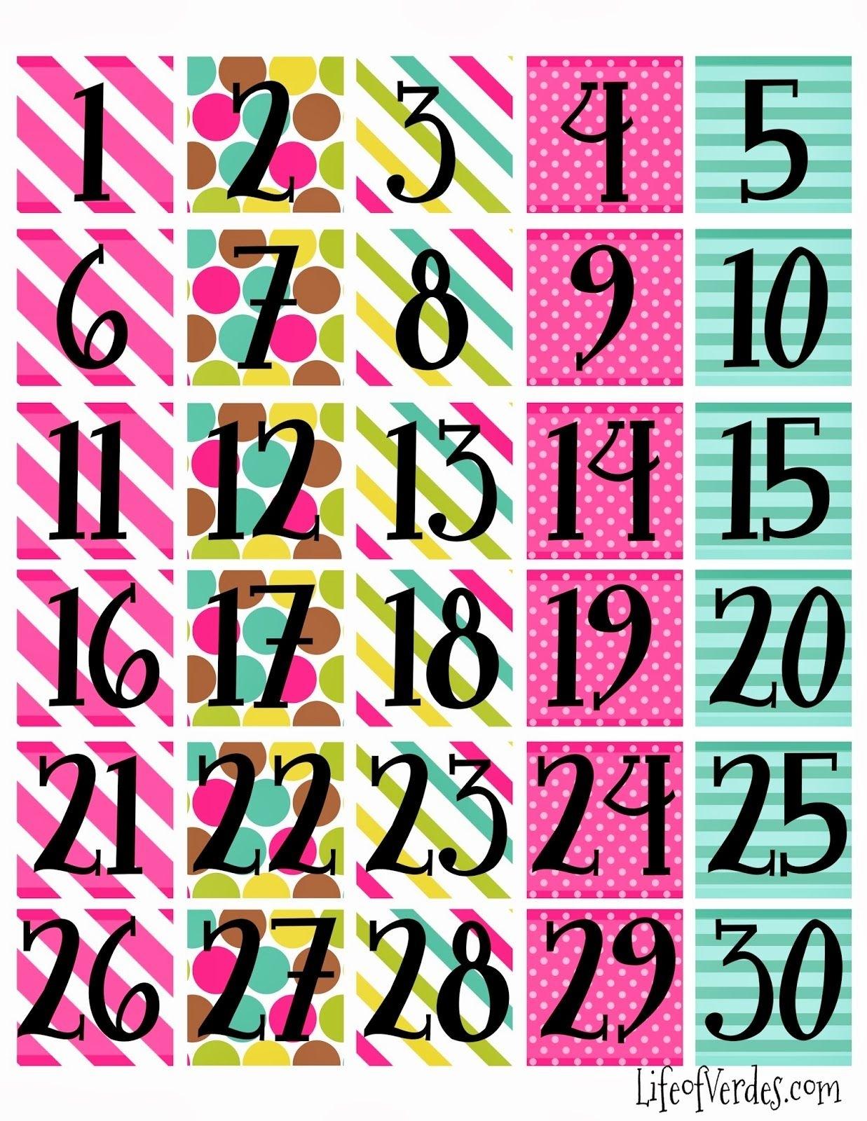 Free+Printable+Calendar+Numbers | Household Info | Pinterest