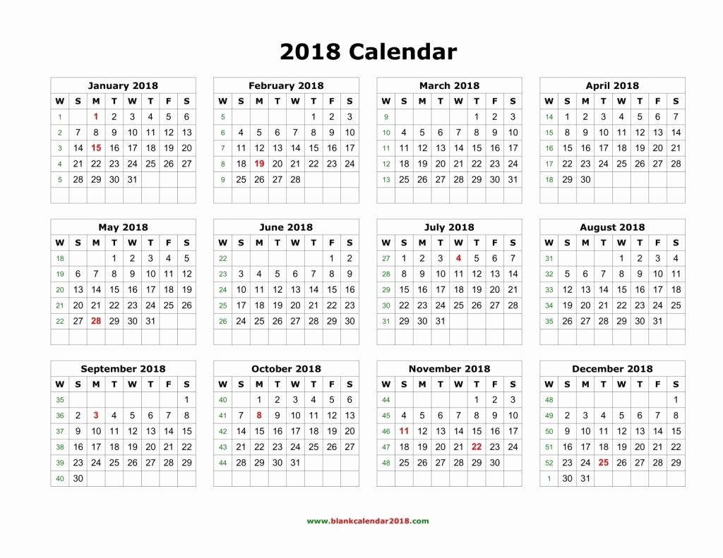 Large Calendar 2018 Free Printable Calendar With Large Boxes