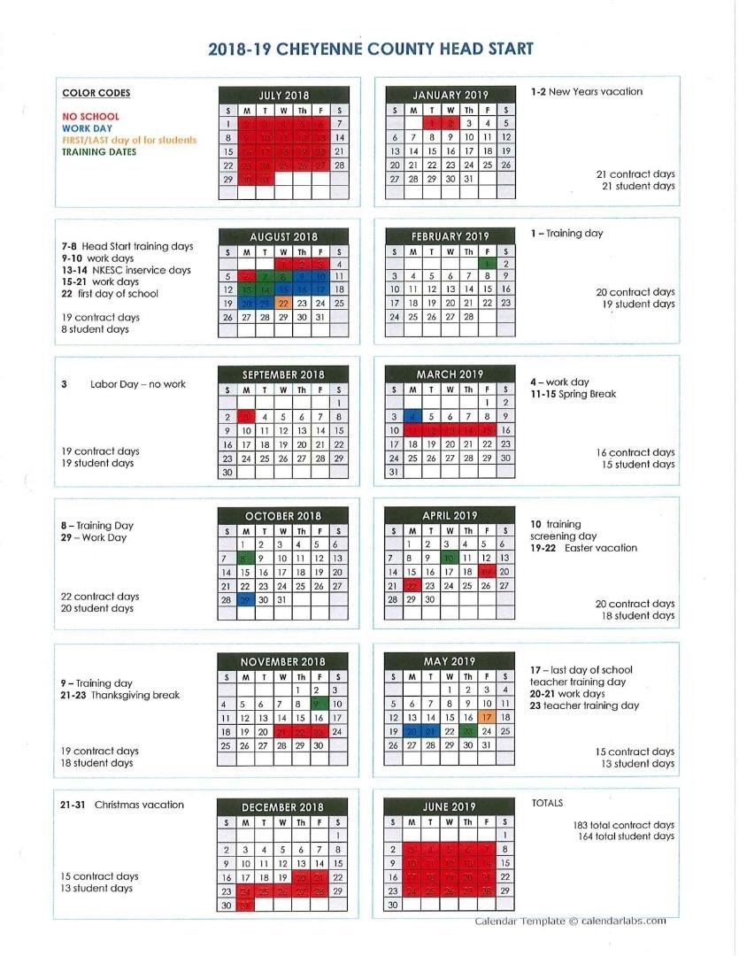 Nkesc - Cheyenne County Head Start Calendar