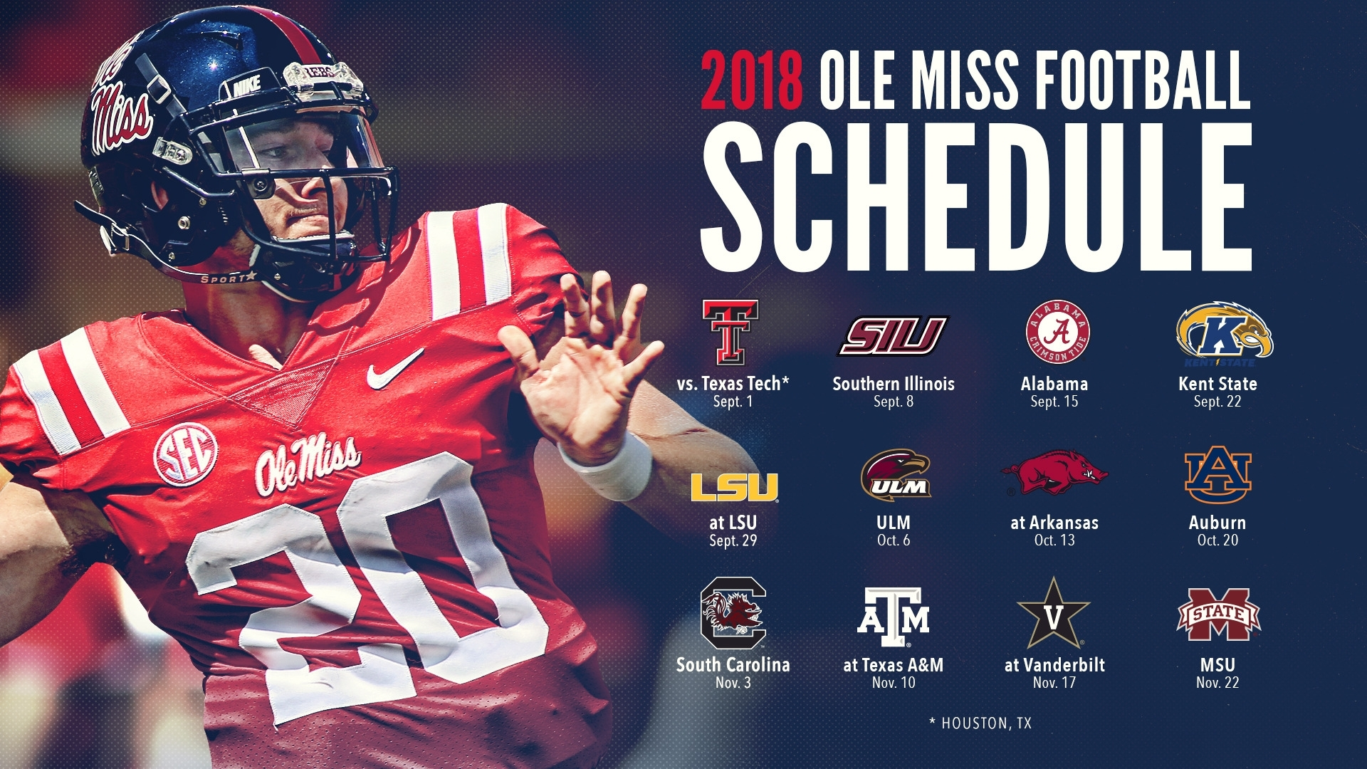 Ole Miss Football Announces 2018 Schedule - Ole Miss Athletics