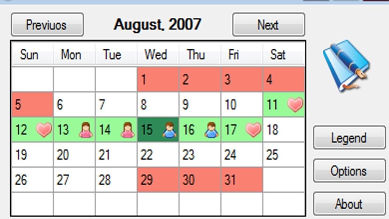 Ovulation Calendar 3 Week Cycle | Ten Free Printable ...