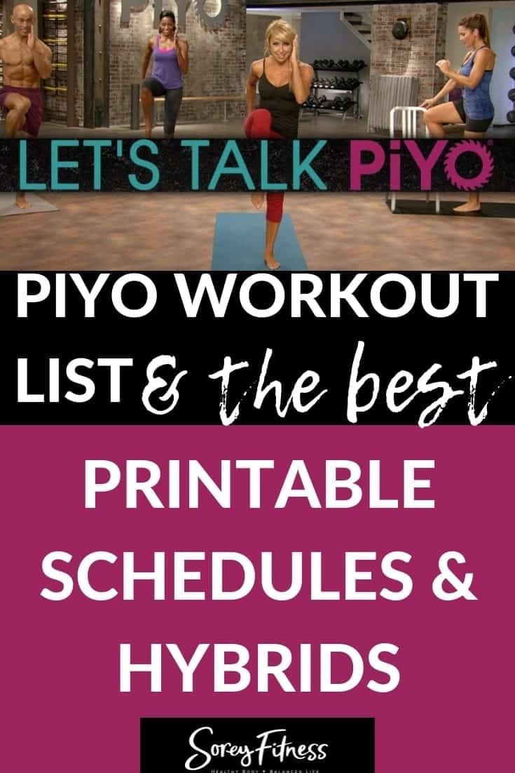 Piyo Calendar - The Full 60 Day Schedule & Workout List
