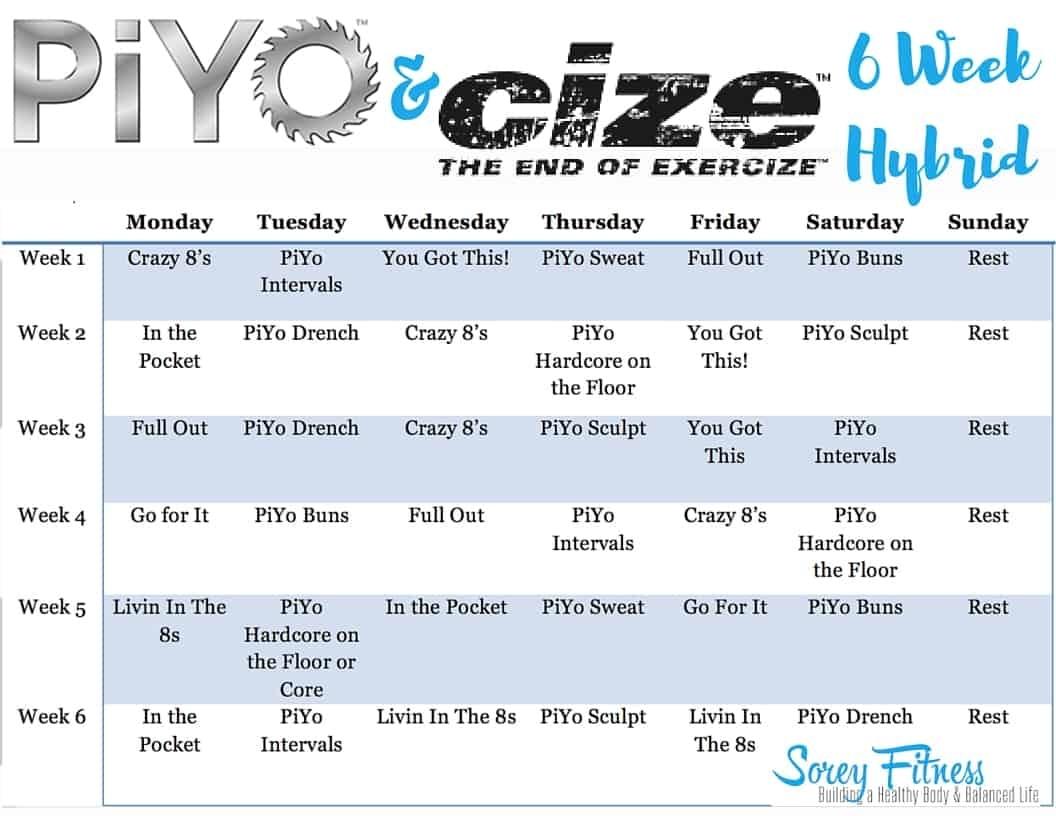 Piyo Cize Hybrid Workout - 6 Weeks To Dance & Strengthen