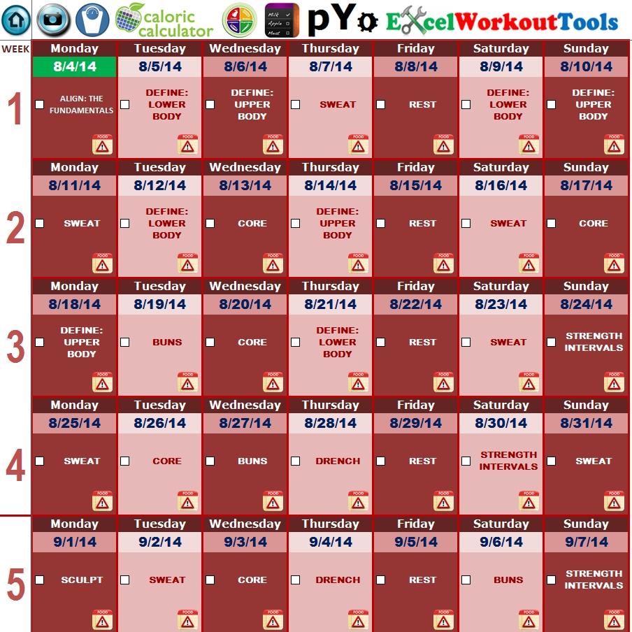 Piyo « Excel Workout Tools