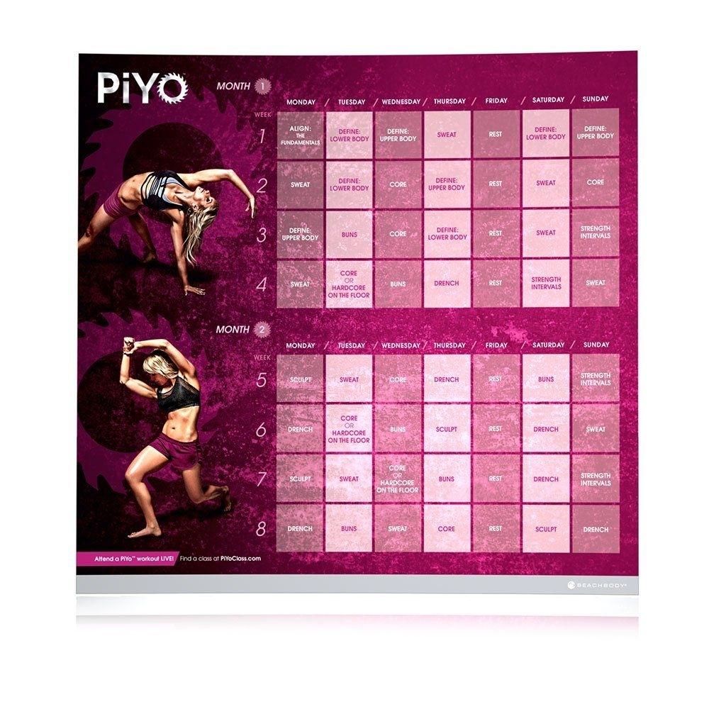 Piyo Workout Calendar | What Is Piyo? | Pinterest | Workout Calendar
