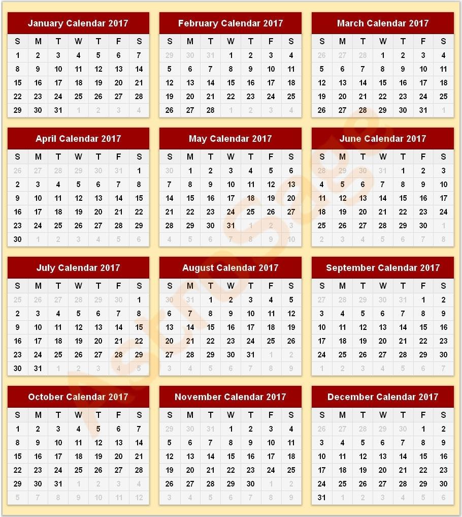 Printable Calendar 2017 - 2017 Printable Calendar