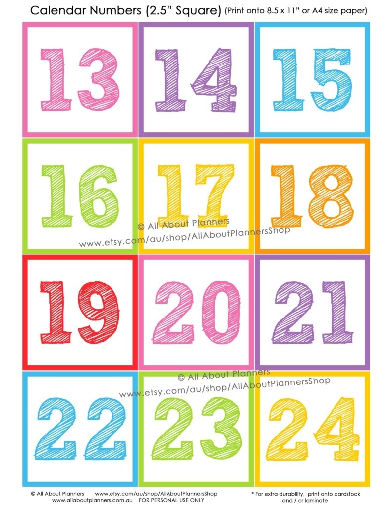 Printable Calendar Numbers For Classroom - Architecture Modern Idea •