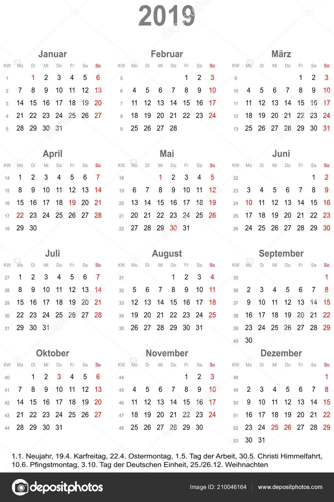 1 Year Calendar At A Glance | Ten Free Printable Calendar ...