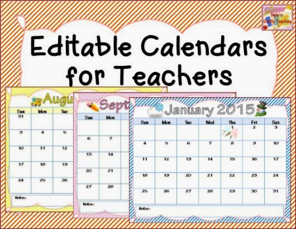 Teacher Printable Calendar - Sasolo.annafora.co