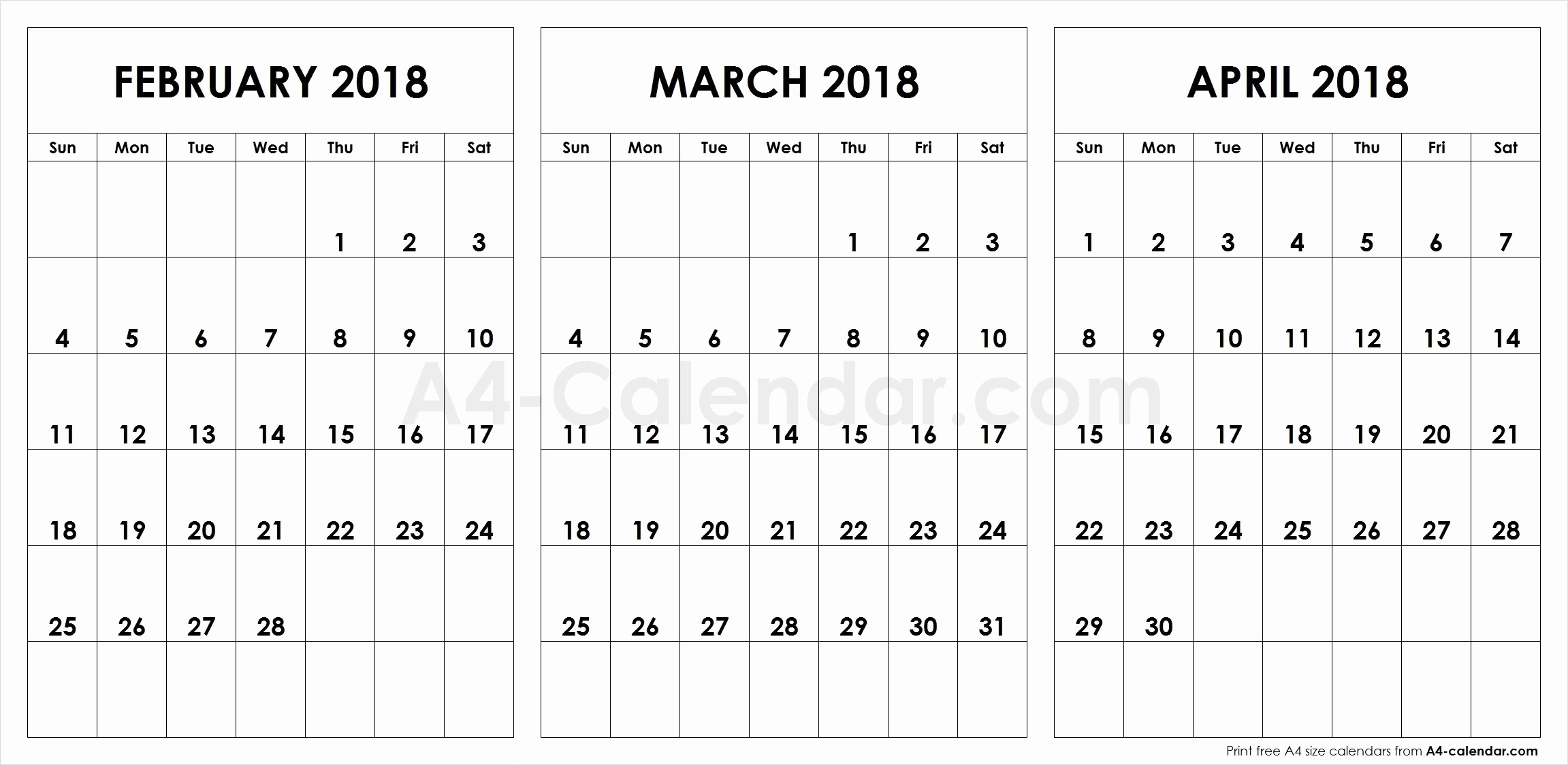 The Top Sample On The Free Printable Calendar 2018 Large Boxes