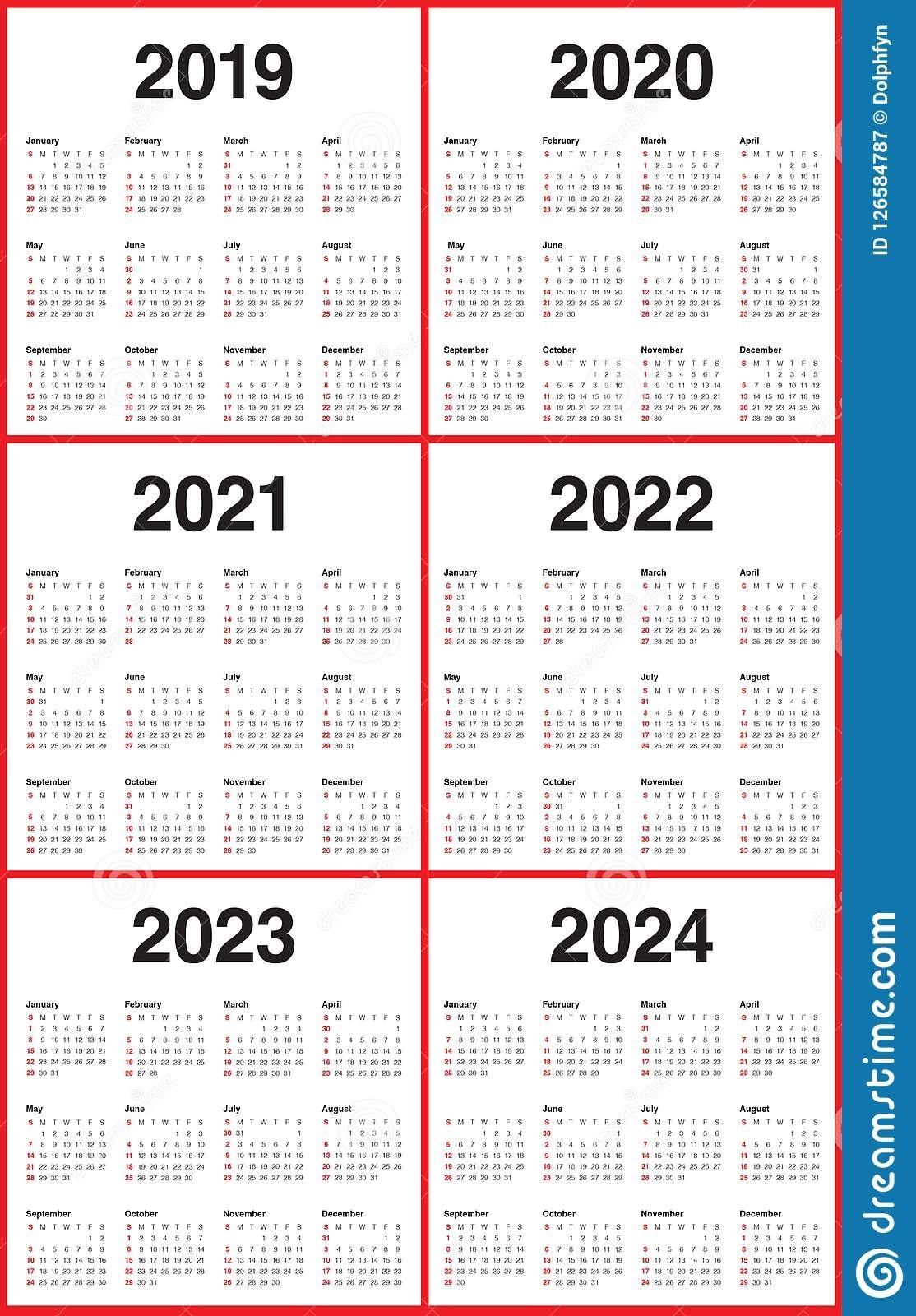 3 Year Calendar 2022 To 2024 | Ten Free Printable Calendar ...