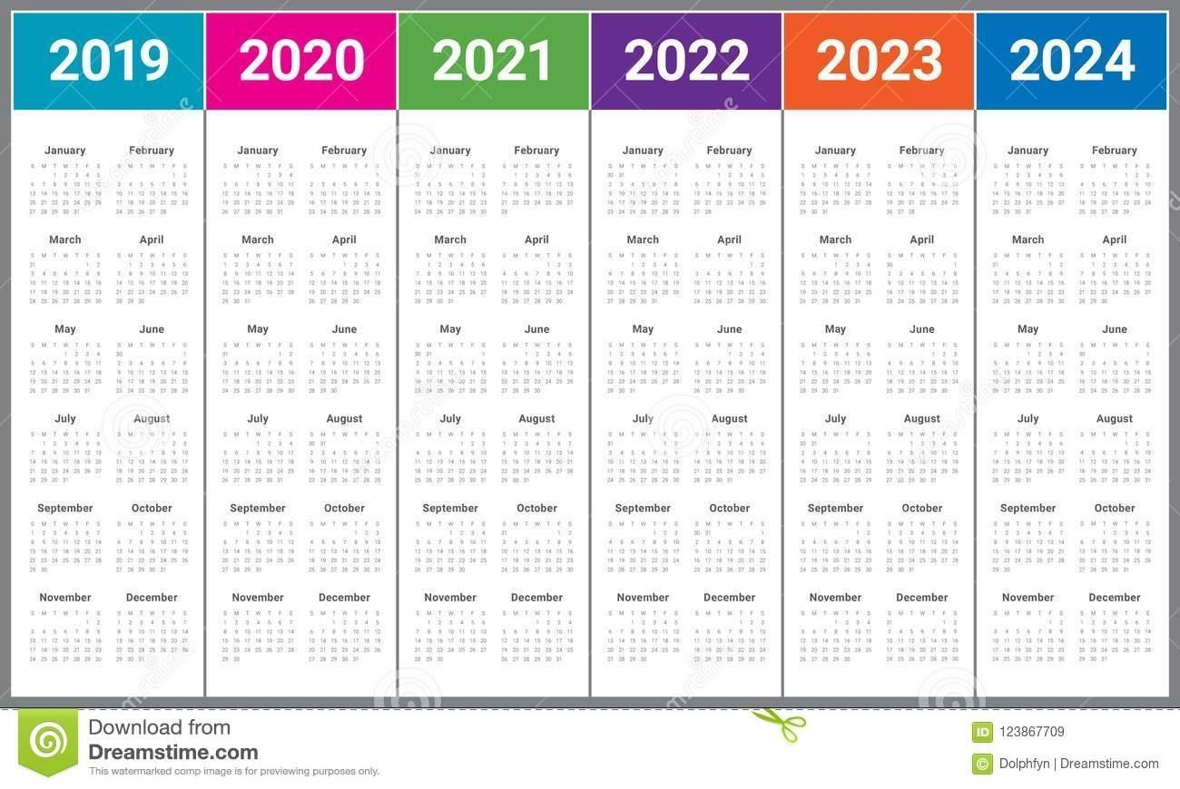 3 Year Calendar 2022 To 2024   Ten Free Printable Calendar ...