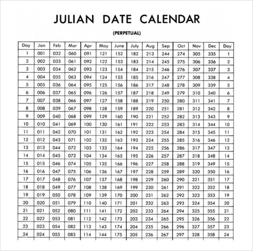 2019 Calendar Julian Date 2018 Calendar Julian Date