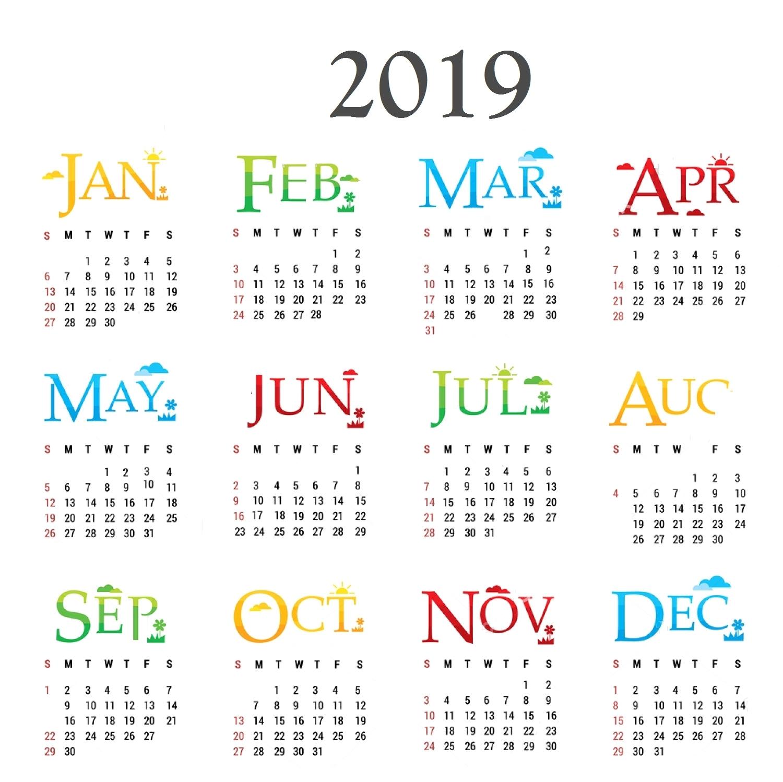 2019 Calendar Year 10 Best 2019 Calendar Designs Ideas Calendar 2019