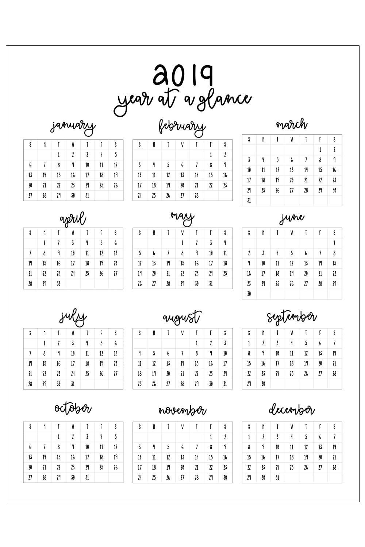 Free Printable Calendar Black And White   Ten Free ...