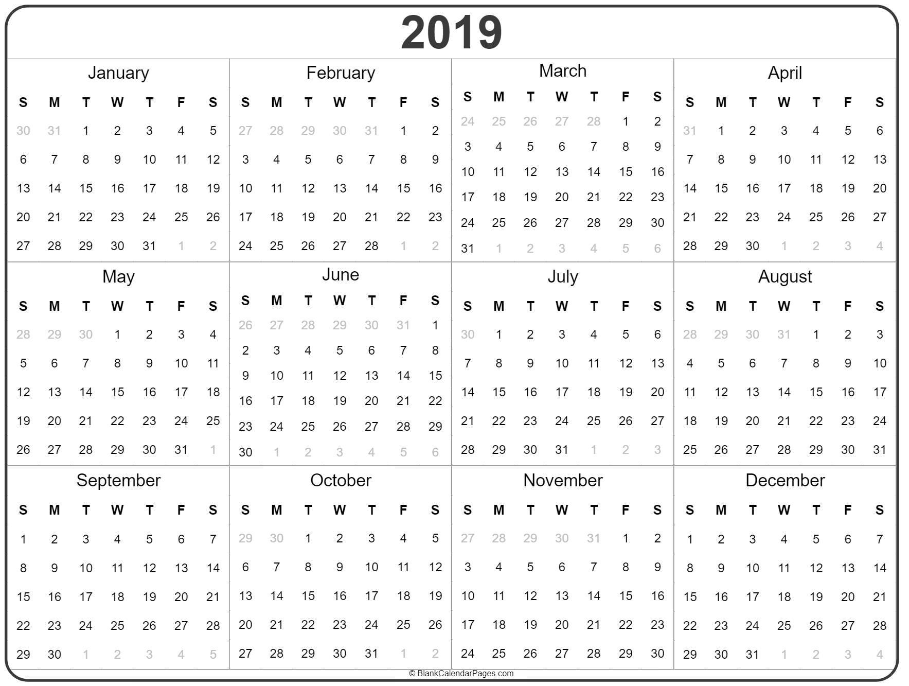 Year Calendar With Photo   Ten Free Printable Calendar ...