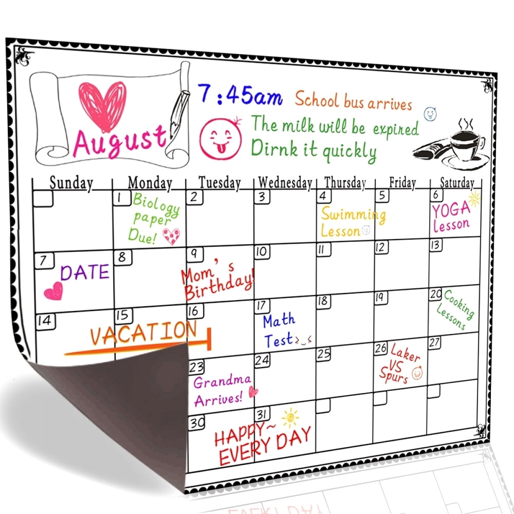 2019 Yearly Monthly Daily Calendar Dry Erase Drawing Planer Board