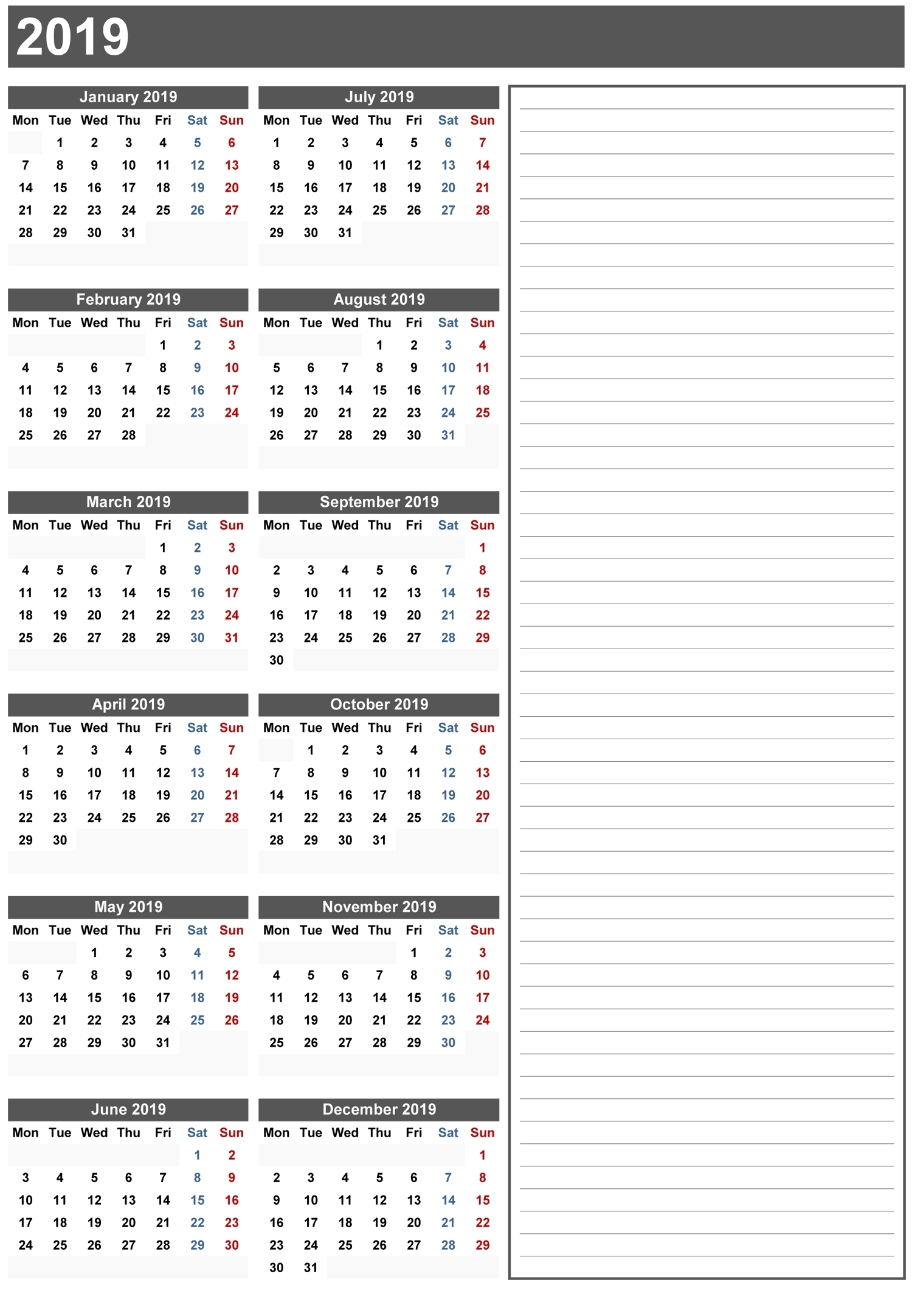 3 Year Calendar 2019 To 2019 10 Best 2019 Calendar Designs Ideas