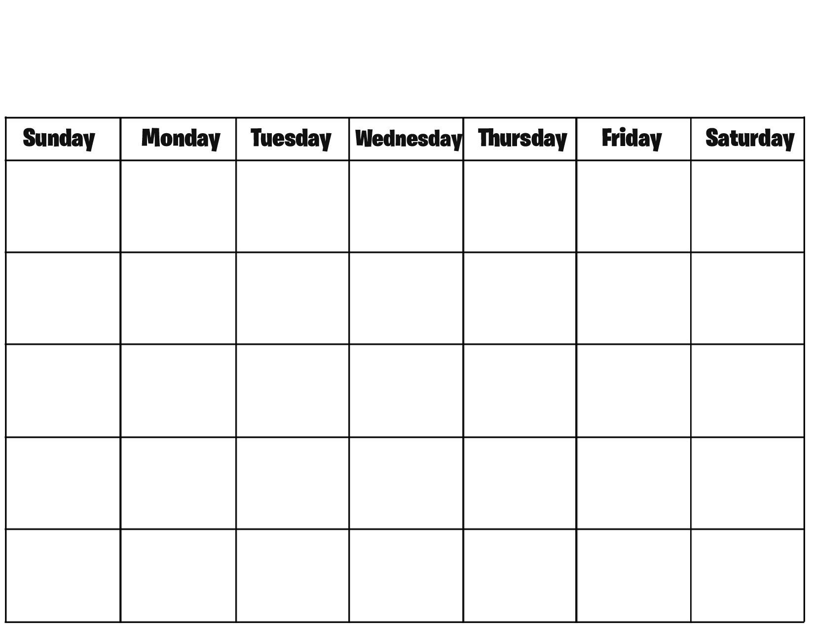 4 Weekly Calendar Printable Blank Calendar Template Photo Drumaw On