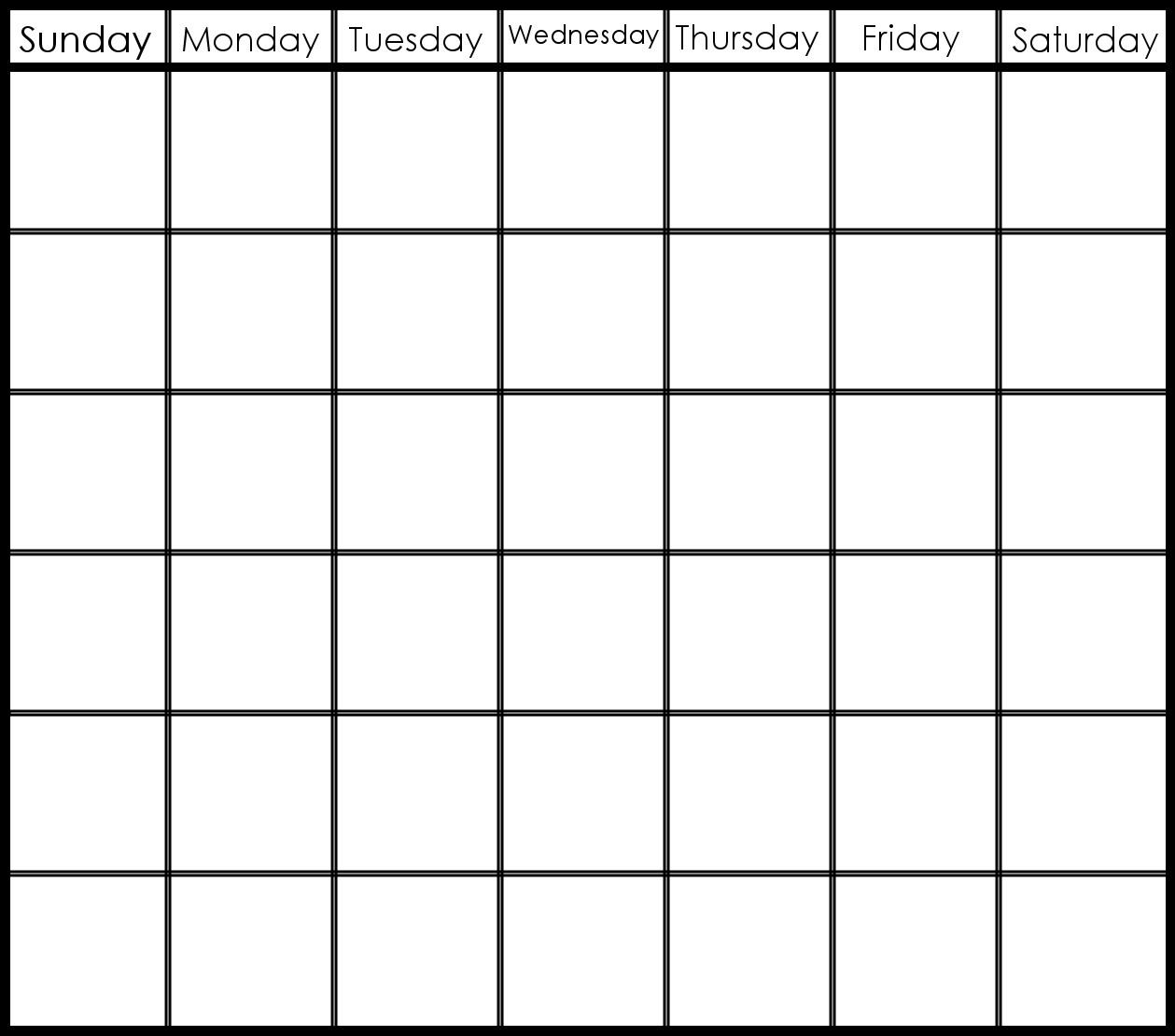 6 Week Printable Calendar | Printable Calendar Templates 2019