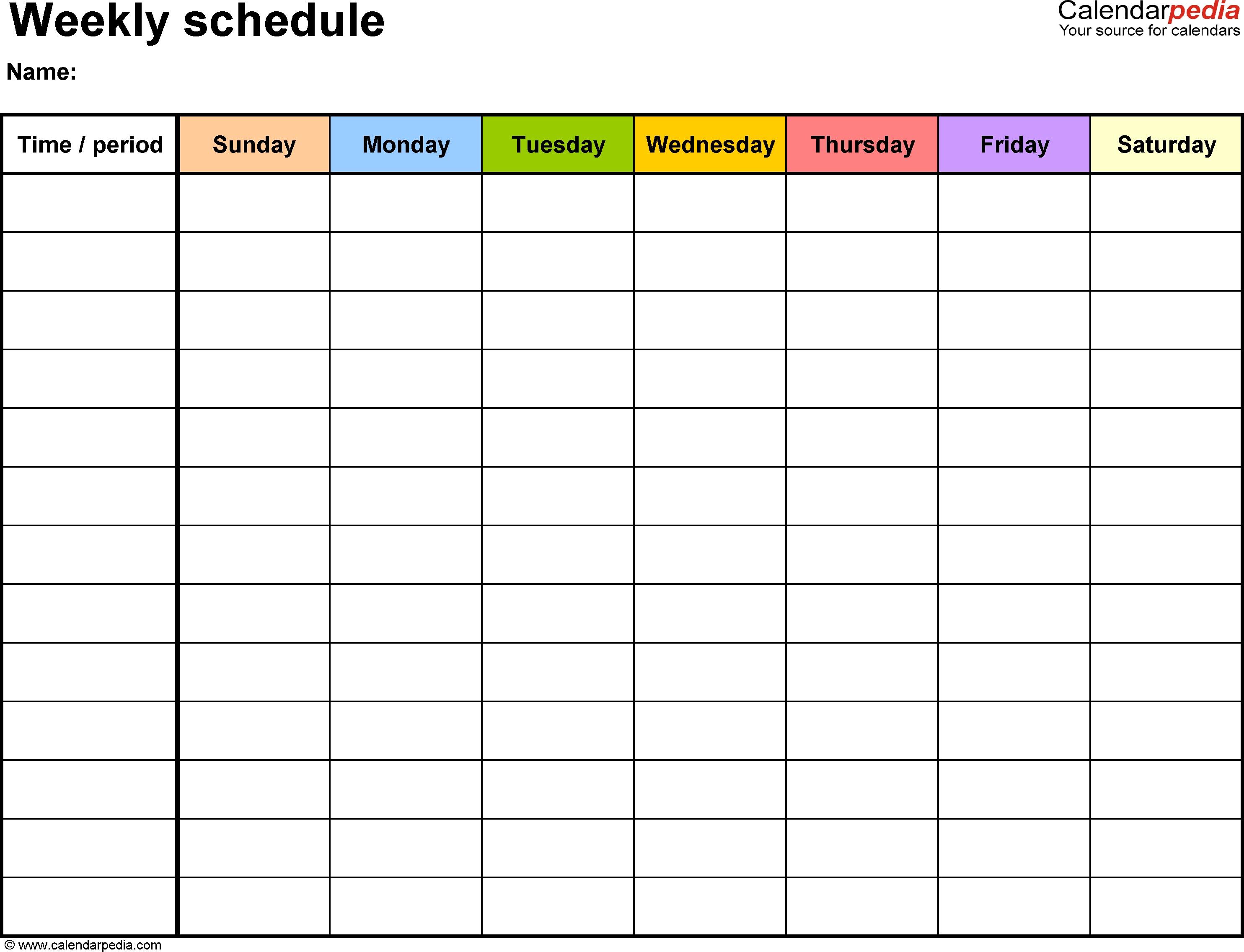 6 Week Schedule Template - Kairo.houseofstrauss.co