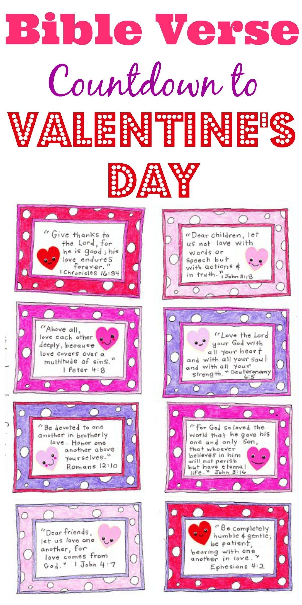 A Valentine's Day Countdown - Free Printable | All Things Valentines