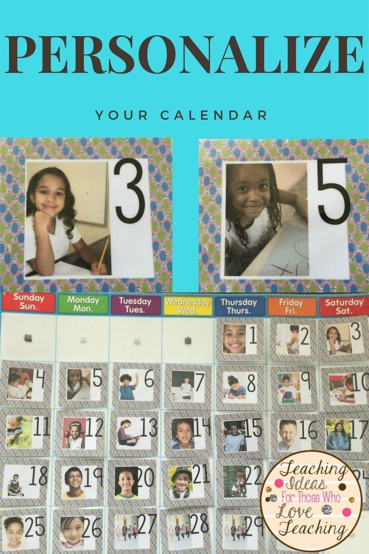 Add Your Own Pictures: Dotted Daily Calendar Cards | Grade 3