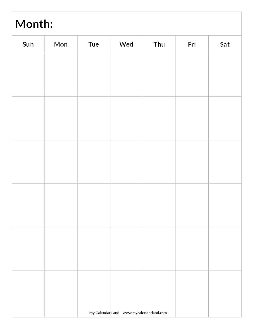 Blank-Calendar-6-Weeks-Portrait-C … | Everything Else.for Now