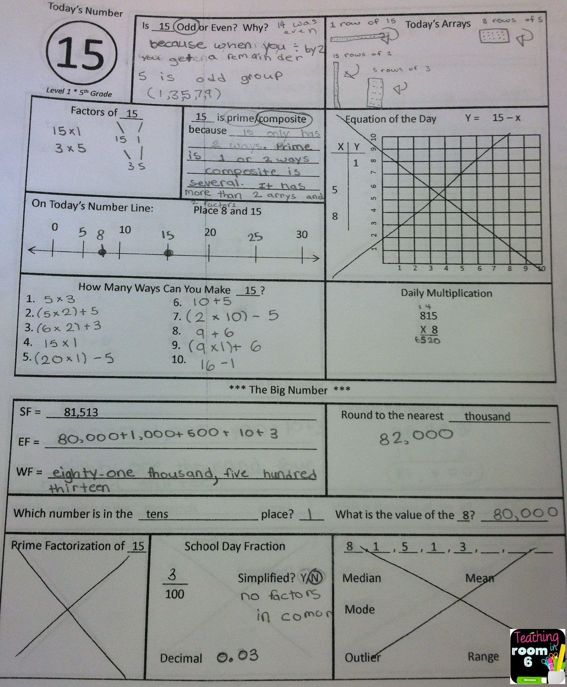 Calendar Math For The Upper Grades 5Th Grade Starter Kit | Math