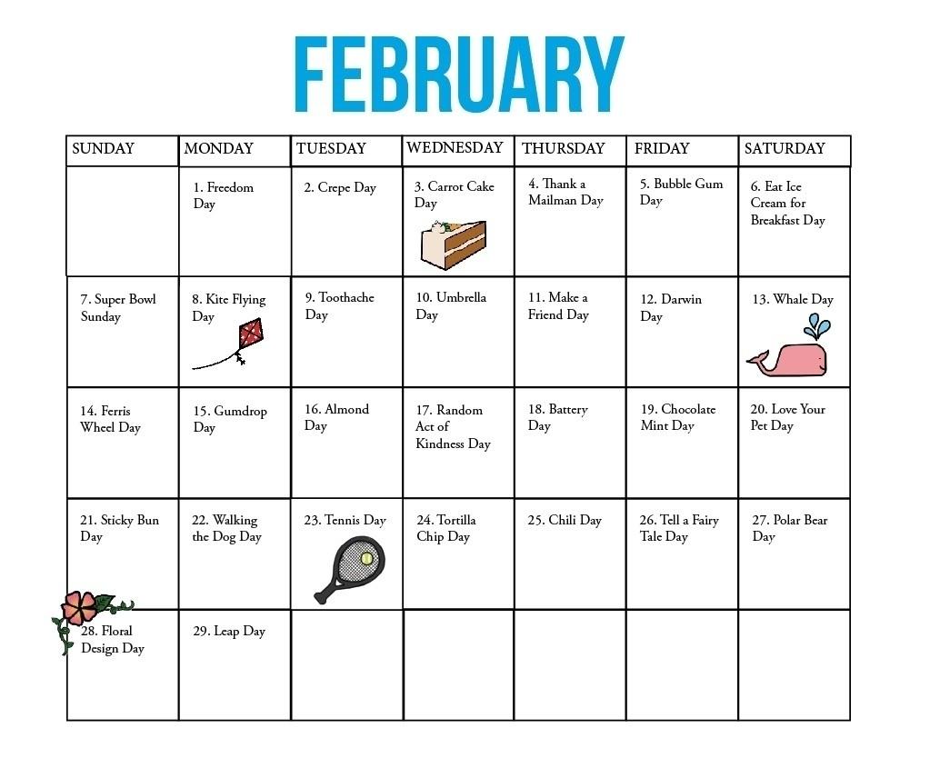 Calendar Of National Days List 2018 – Template Calendar Design